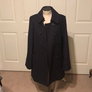 Jcrew Wool Navy Pea coat LIKE NEW sz 8
